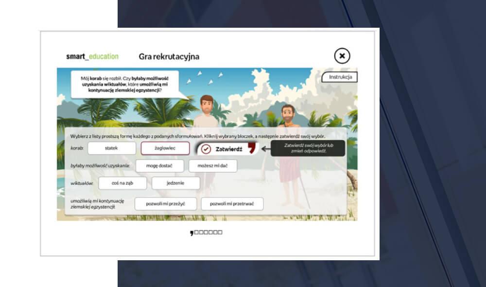 Innowacyjna gra rekrutacyjna online
